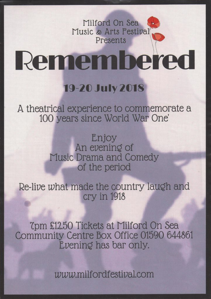 Remembered Poster for final advertising